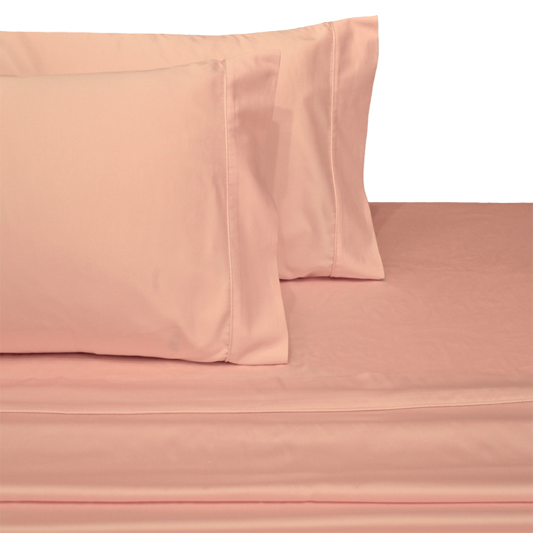 Egyptian Linens 243-2033 BLUSH 300 Thread count Solid 100-Percent Egyptian cotton King Pillowcases (Pair)